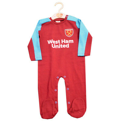 West Ham United Sleepsuit 12 / 18 Months Babygrow 17/18 Gift Official Product