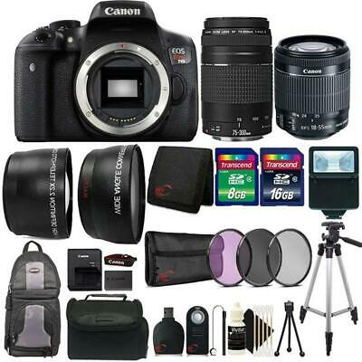 Canon EOS Rebel T6i Camera + 18-55mm Lens , 75-300mm Lens + 24GB Accessory Kit