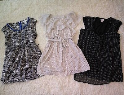 MOTHERHOOD MATERNITY Shirts size M Medium  dressy clothes 3 piece lot Black