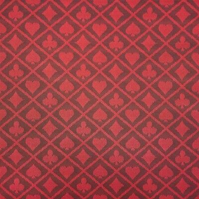 6 Feet Two-Tone Red Poker Table Waterproof Suited Speed Cloth - Item 50-0091x6