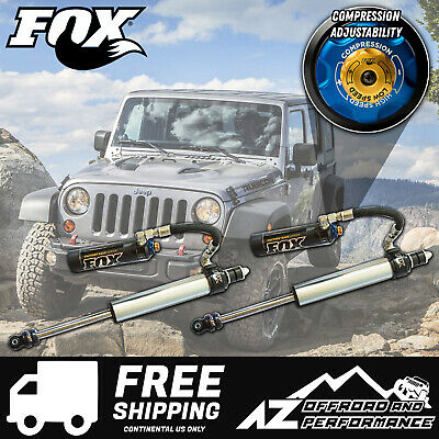 "Fox 2.5 Factory Series Front Resi Shocks w/DSC For 07-18 Jeep JK 4.5""- 6"" Lift"