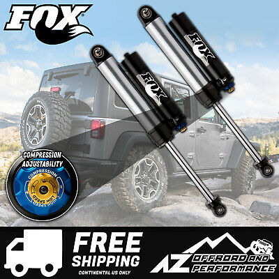 "Fox 2.5 Factory Series Rear Bypass Resi Shocks w/DSC For 07-18 Jeep JK 2.5""- 4"""