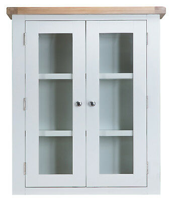 Hartwell White Painted Small Dresser Top / Hutch / 85cm 30cm 100cm