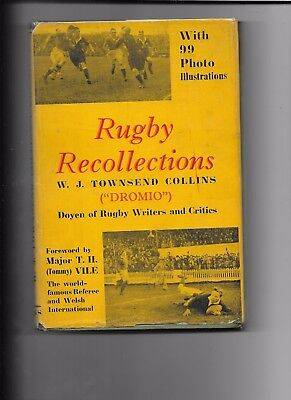 Rugby Recollections W.J Townsend Collins (Dromio) 1st Edition 1948
