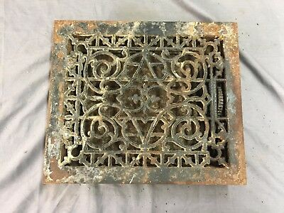 Antique Cast Iron Heat Grate Floor Vent Register Vtg Victorian Old 12x10 44-17B