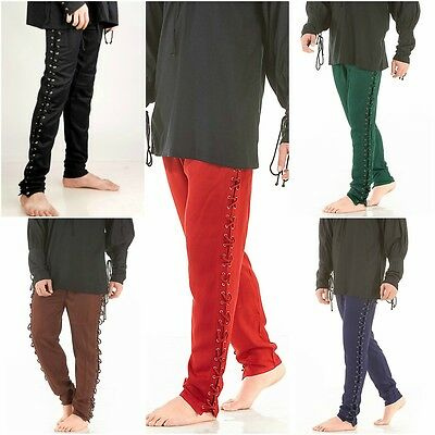 Medieval Gothic Death Tied Pants Men's Multiple Sizes and Colors