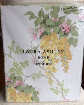 NEW LAURA ASHLEY Wisteria DOUBLE duvet cover bedset Camomile RRP £90