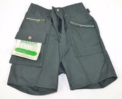 Vtg 1970's Briarcliff Campers Boys Heavy Duty Twill Camping Shorts, Green 8 NOS