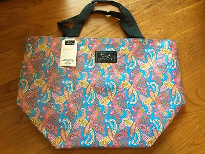 "Scout by Bungalow ""The Weekender"" Getaway Bag Paisley Print Zipper Tote Bag, NEW"