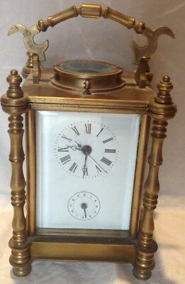 Vintage Reproduction Solid Brass Carriage Clock Platform Movement