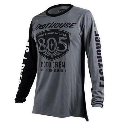 New Fasthouse Grey 805 Shield Air Cooled MX/Offroad Jersey Adult Sizes