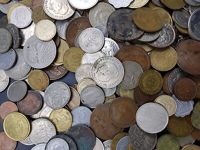 Job Lot of Circulated World Coins Sorted For Variety - Ideal Collection Starter