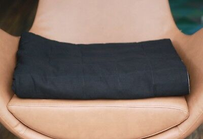 Black Cotton Weighted Therapy Blanket- CE Certified, all sizes and colours