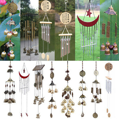Stylish Window Garden Yard Wind Chime Copper Wind Bells Tubes Home Decor Gift