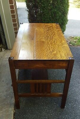 Antique Mission Oak Arts & Crafts Oak 1 drawer Library Table Desk Stickley ? 40""