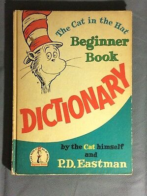 VINTAGE DR SEUSS THE CAT IN THE HAT BEGINNER BOOK DICTIONARY BOOK ss