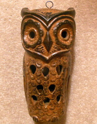 Vintage Counterpoint San Francisco Art Pottery OWL Candle Holder Made in Japan
