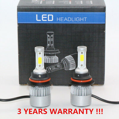 2PCS 72W 9004/HB1 COB LED Car Headlight Bulb Auto Led 8000lm 6000K KIT Hi/Lo