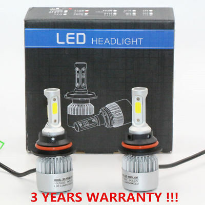 2PCS Car 9004/HB1 LED Headlight Conversion Kit 72W 8000lm Replacement 6000k