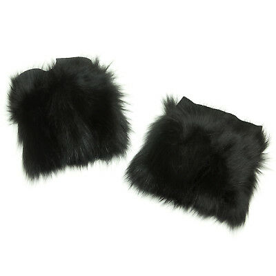 MAX MARA Women's Barone Black Fox Fur Cuffs One Size $395 NWT