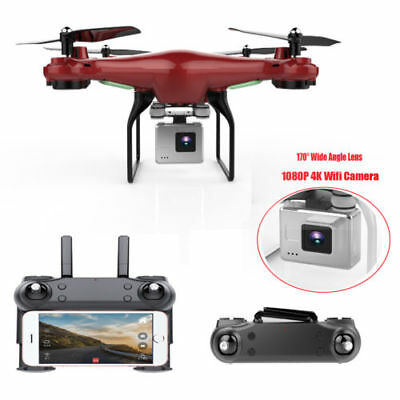 Wide Angle Lens HD Camera Drone RC Quadcopter WiFi FPV Remote Control Helicopter