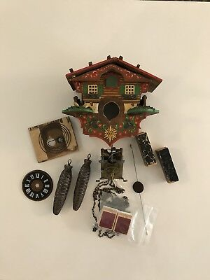 Late 1800s German Hand Painted Cuckoo Clock~Triple Plate Movement~Black Forest~