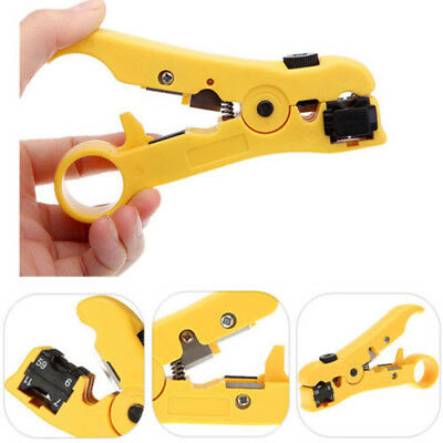 Coax Coaxial Cable Wire Cutter Stripper Crimper Tool for RG59 RG6 RG7 RG11