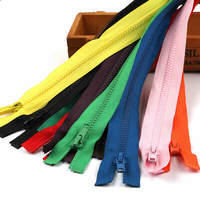 Many Colours and Size Plastic Resin Sider Teeth Zipper Separating Zips Open End