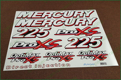 Mercury 225 HP OptiMax ProXS Outboard Motor Laminated Decals Stickers Kit