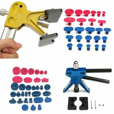 Car Paintless Dent Puller Lifter Body Glue Gun Repair Hail Removal Pdr Tool Kit