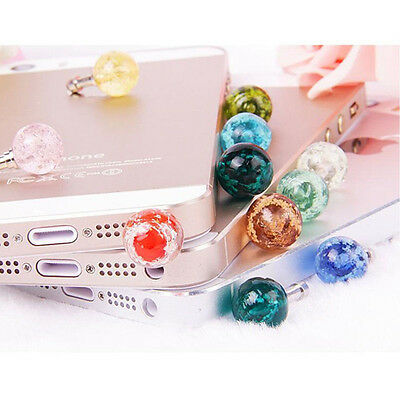 Phones 3.5mm Jack Universal Glow Headset Headphone Anti Dust Plug Cute Gifts@@