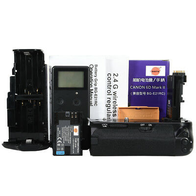 DSTE BG-E21 Vertical Battery Grip for Canon 6D Mark II With LP-E6 Remote Control