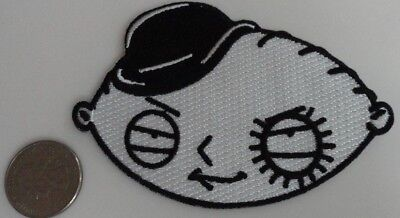 Family Guy Stewie Clockwork Orange Droog Embroidered Iron On Patch New - Rare