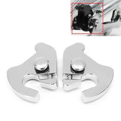 Pair For Harley Detachable Rotary Sissy Bar Luggage Rack Docking Latch Clip Kit
