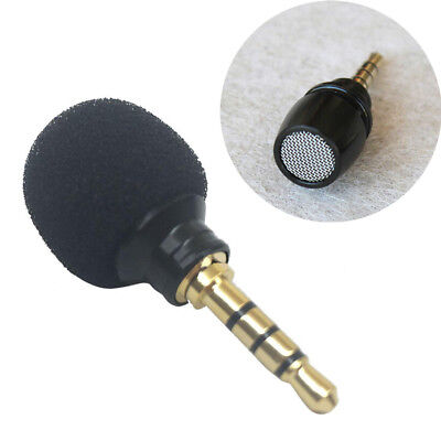 Universal Mini 3.5mm Stereo Microphone Mic For Smart Phone Recording Parts Black