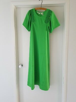 VINTAGE 60's / 70's dress 12 lime green RETRO dress up
