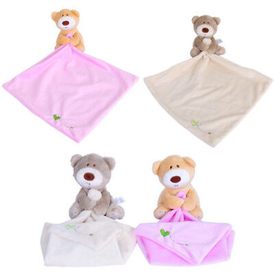 2 Colors Lovely Bear Blankie Development Soft Baby Kid Toy Newborn Gift New Hot