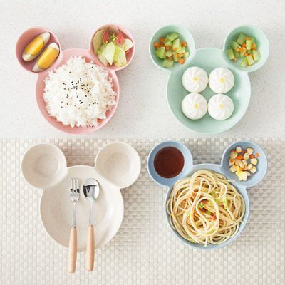 Cute Cartoon Appearance Dinner Plate Kids Cartoon Pattern Food Fruit Dish Tray T