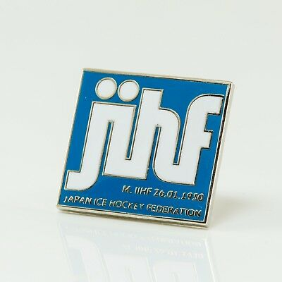 Ice Hockey Federation of Japan pin, badge, lapel, hockey