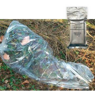 BCB Survival Basic Disposable Emergency Compact Bushcraft Sleeping Bag Clear NEW