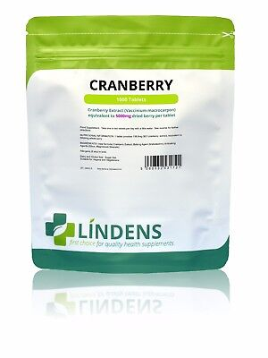 Cranberry Juice 5000mg Tablets (100 pack) cystitis urinary health [Lindens 1721]
