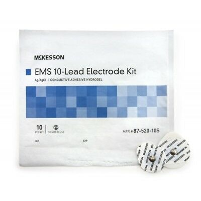 McKesson EKG Snap Electrode, Monitoring, Non-Radiolucent, 10 per Pack, *NEW!*