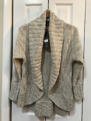 NWT Oh Baby maternity cocoon sweater cardigan M Oatmeal