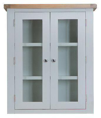 Hartwell Grey Painted Small Dresser Top / Hutch / 85cm 30cm 100cm