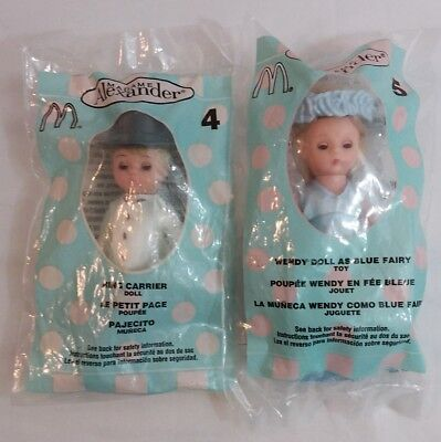 Lot of 2 Madame Alexander McDonald's Collectible Dolls. Ring Boy Blue Fairy