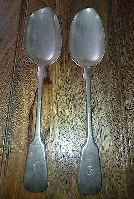 Two old/vintage silver plated big great looking spoons.