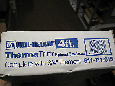 "Therma Trim Hydronic Hot Water Baseboard 4 ft. with 3/4"" Element 611-111-015"
