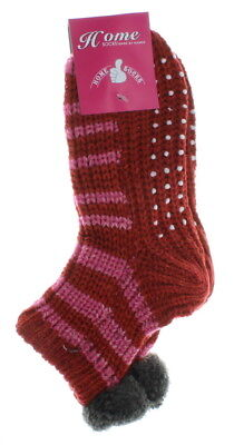 6 Pairs Womens Hand Knit Socks One Size Fits Most Booties Warm Winter Slippers