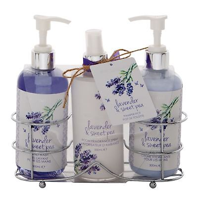 Body Collection Lavender & Sweet Pea Hand Wash Lotion Room Fragrance Gift Set