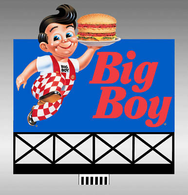 Bob's Big Boy Animated Sign Kit #44-2902 N or HO Scale Miller Engineering New!